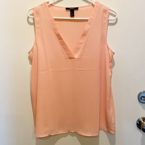 Forever 21 Peach Color Sleeveless Tunic Top